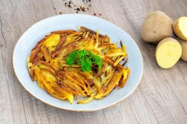 Kartoffelrösti aus rohen Kartoffeln knusprig schnell und einfach Rezept