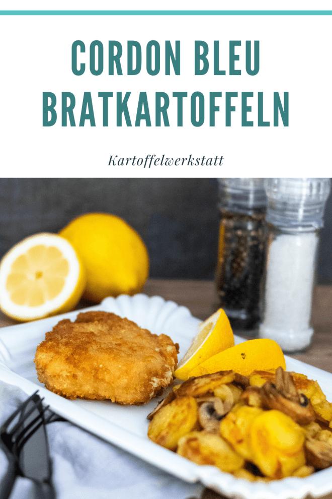 Deutscher Klassiker Pinterest Cordon bleu / Schnitzel mit Bratkartoffeln