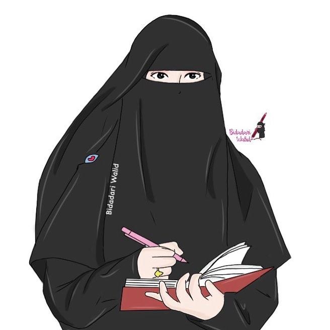 Muslimah Bercadar Bercadar Cantik Bidadari Surga Kartun Muslimah