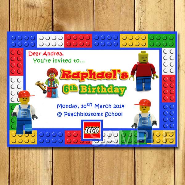 Kartu Ulang Tahun Anak Anak Lego Undangan Ulang Tahun Anak Murah