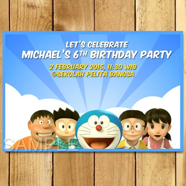 Kartu Undangan Ulang Tahun Doraemon Undangan Ulang Tahun Anak