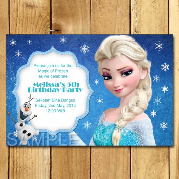 Kartu Undangan Ulang Tahun Frozen Undangan Ulang Tahun Anak Murah