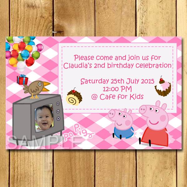 Kartu Undangan Ulang Tahun Peppa Pig Undangan Ulang Tahun Anak
