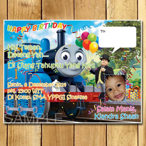 Kartu Undangan Ulang Tahun Thomas And Friends Undangan Ulang Tahun