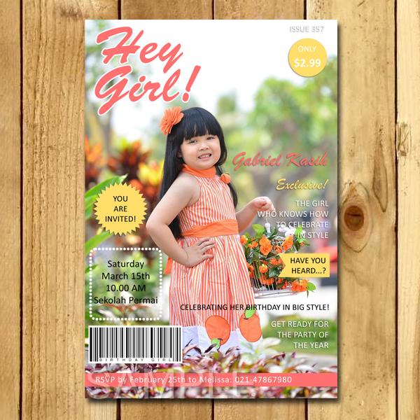 Kartu Undangan Ulang Tahun Cover Magazine Undangan Ulang Tahun