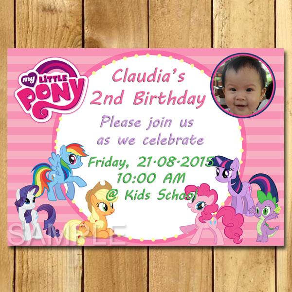 Kartu Undangan Ulang Tahun My Little Pony Undangan Ulang Tahun