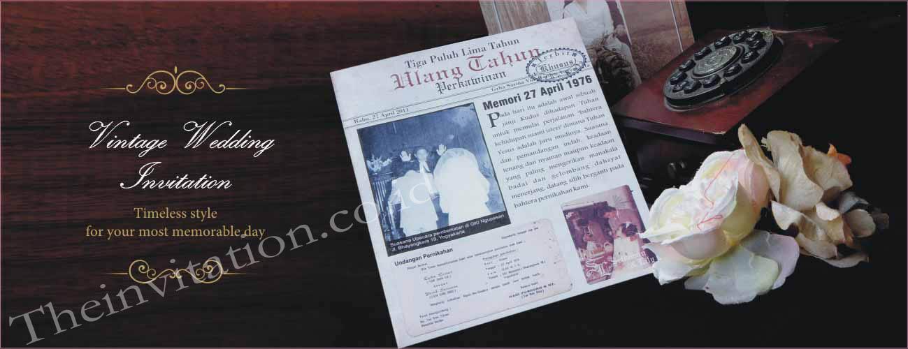 Kartu Undangan Pernikahan Vintage 0274 542 791 Undangan