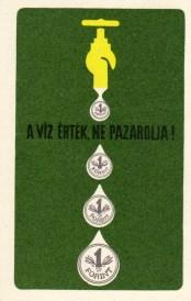 A víz érték (postai szolgáltatások hátul) - 1969