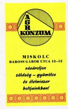 Agro Konzum (Miskolc) - 1971