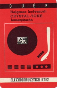 Elektroakusztika KTSZ (Crystal-tone lemezjátszó) - 1970