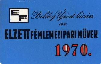 ELZETT (fémlemez-naptár) - 1970