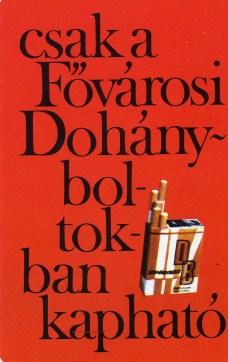 Fővárosi Dohányboltok - 1973