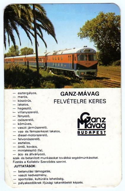 GANZ-MÁVAG Munkaerőgazdálkodási Osztály - 1983