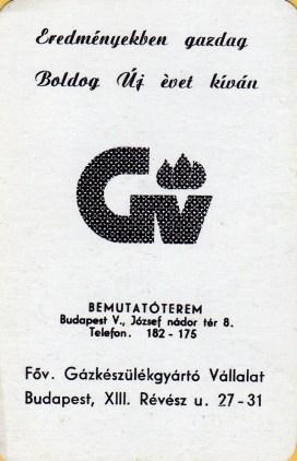 Gázkészülékgyártó Vállalat - 1972