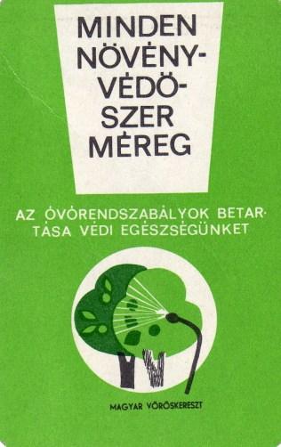 Magyar Vörörkereszt (a növényvédőszer méreg) - 1966
