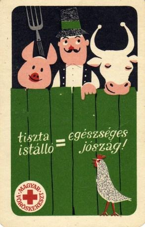 Magyar Vöröskereszt (tiszta istálló, egészséges jószág) - 1964
