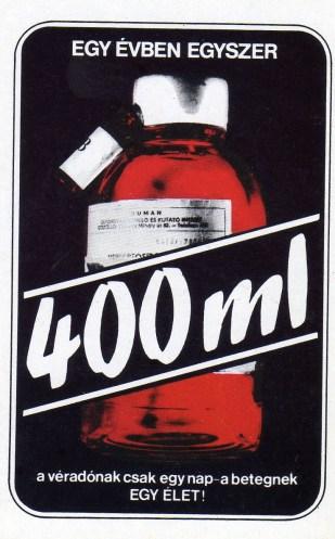 Magyar Vöröskereszt (véradás) - 1982