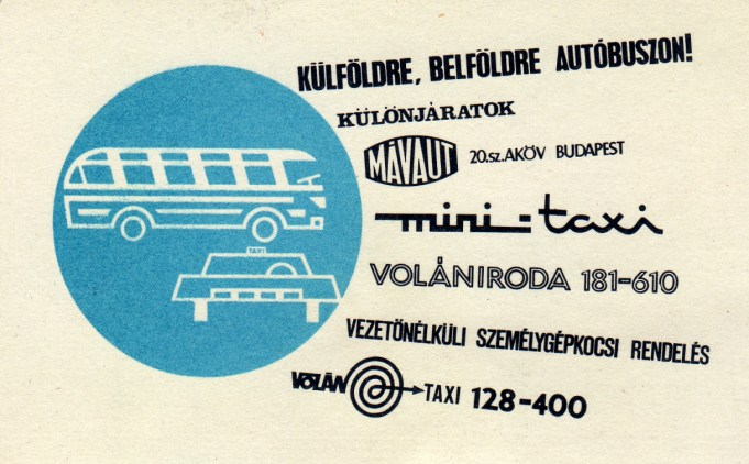 MÁVAUT - Volán Taxi - 1970