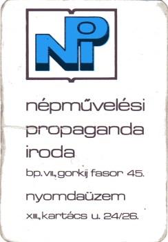 Népművelési Propaganda Iroda - 1979