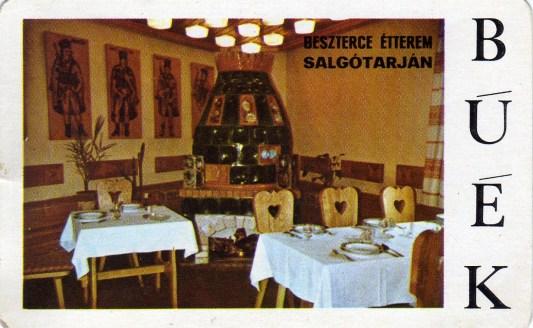 Nógrád megyei Vendéglátó Vállalat egységei - 1975