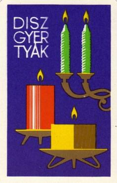 Növényolajipari és Mosószergyártó Országos Vállalat (díszgyertyák) - 1967
