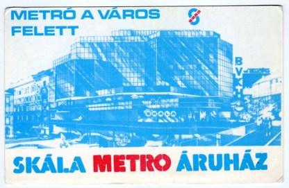 SKÁLA METRO - Budapest (nyitás májusban) - 1984