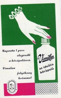 Vegyianyag Kereskedelmi Vállalat (Vimalan) - 1971