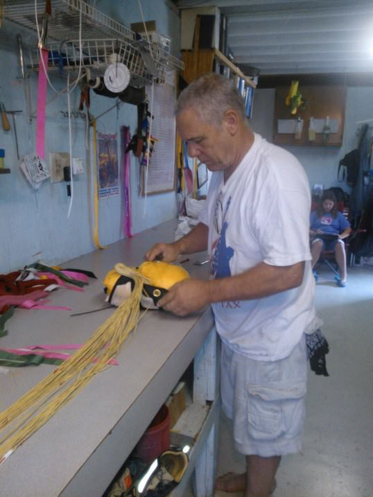 Bill Lee packing a fun jumper's rig. (Michelle Barrett photo)