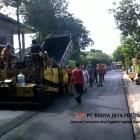Pengaspalan Hotmix Komplek Dephub Jakarta