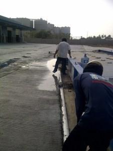 Proyek Betonisasi Cilegon Perapian dan Pengecoran Jalan