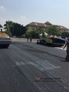 Pengaspalan Hotmix Satpas SIM Polda Metro Jaya Jakarta, Jasa Pengaspalan PT. Karya Jaya Pertiwi, Aspal Hotmix