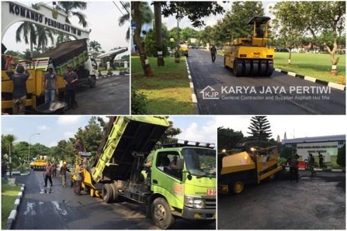 Pengaspalan Markas Komando TNI AU Halim Perdana Kusuma, Jasa Aspal hotmix, Jasa Pelapisan Aspal Jalan Overlay Perbaikan Jalan
