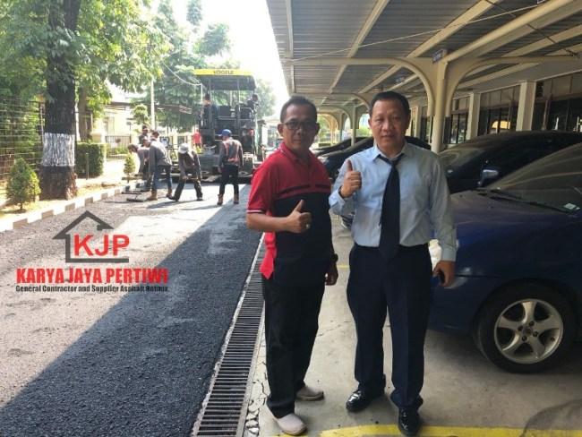 Pengaspalan Jalan Komplek MAKOHANUDNAS I Halim Perdana Kusuma Jakarta