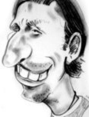 karykatura pilkarza
