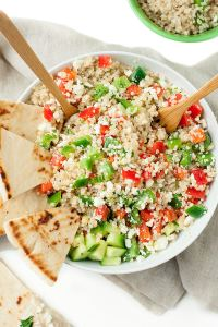 Greek Quinoa Bowl by Peas and Crayons