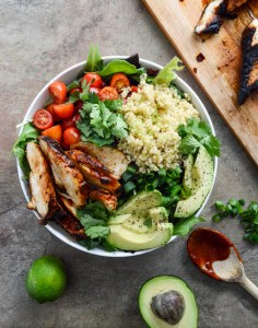 Honey Chipotle Chicken Bowl by How Sweet It Is