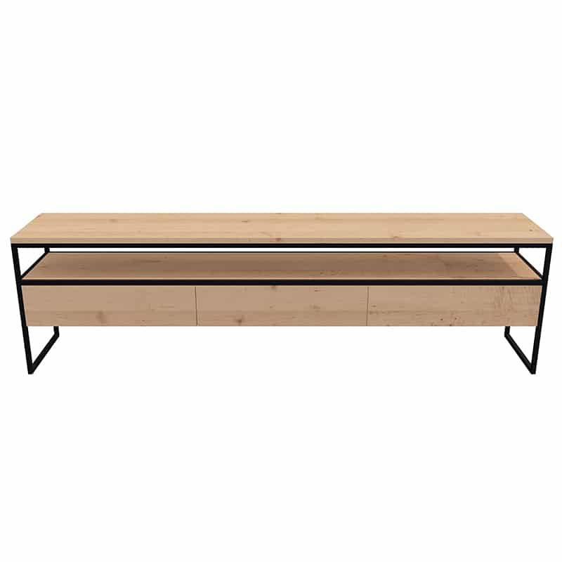 tv stand made to measure wood metal