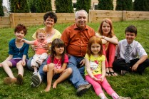 With their grandchildren!