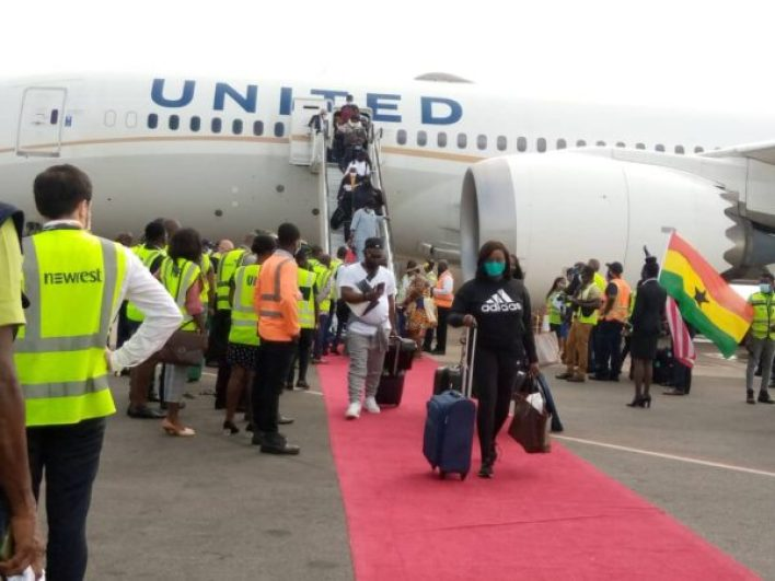 United Airlines returns to Ghana after nine years of absence. 50