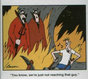Farside Happy in Hell