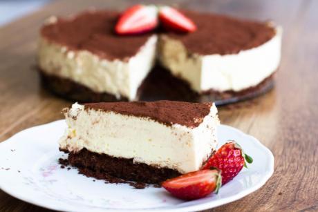 Tiramisu Quark Kuchen ohne Backen