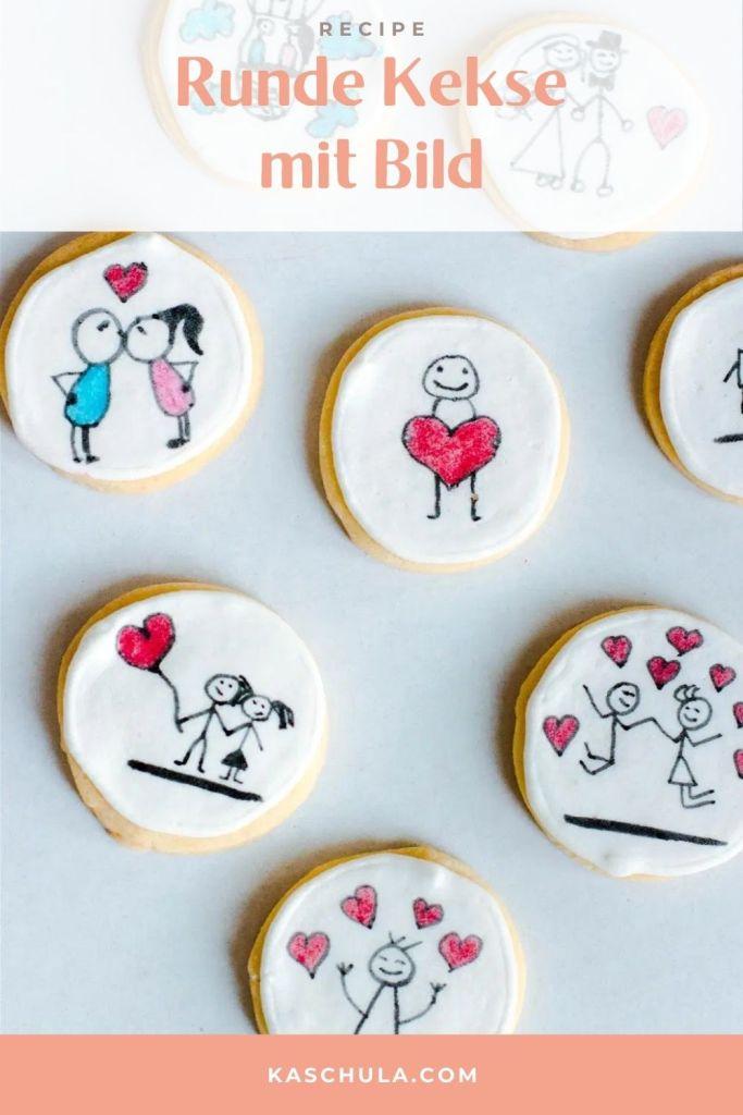 runde kekse mit bild