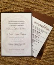 Glittery Rustic Wedding Invitations