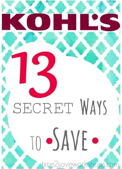 ways to save at kohls