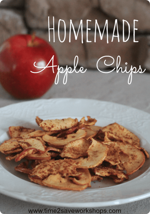 hoemade apple chips