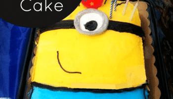 Easy Minion Birthday Cake