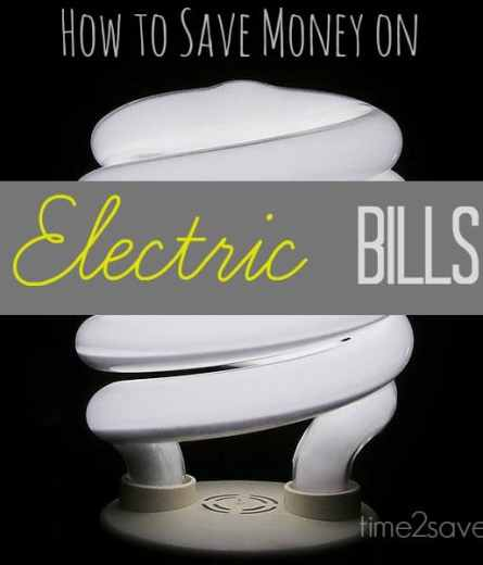 how to save money on electric bills