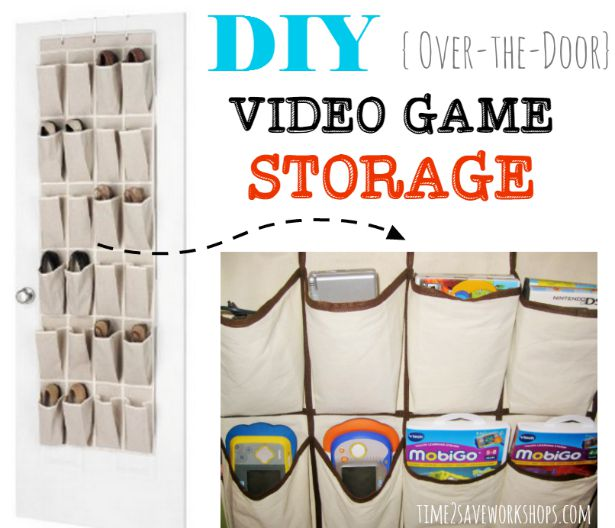 Shoe bag video game storage