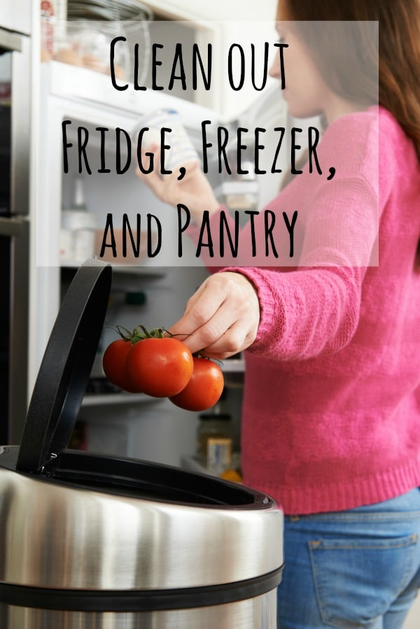 clean out fridge pantry and freezer