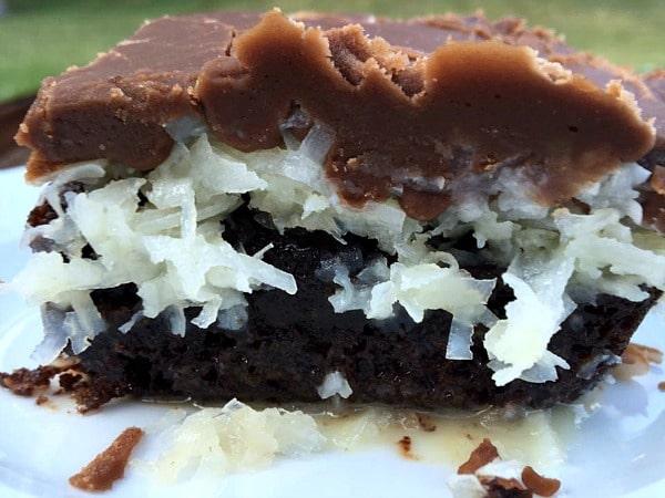 Mounds Poke Cake